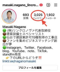 Instagramフォロワー3000人!